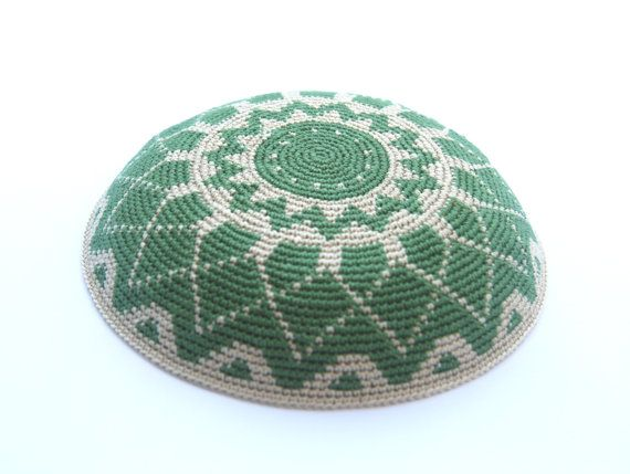 Geometric Crochet Yarmulke (Kippah) Hand made by Shoshi\'s Studio