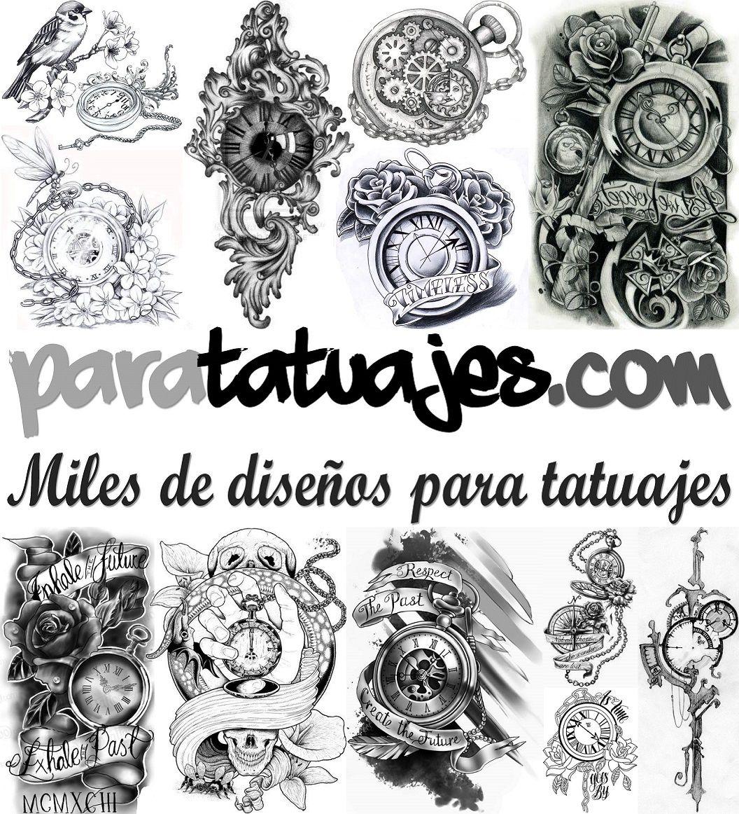 Diseños Para Tatuajesde Relojes En Blanco Y Negro Tatoo