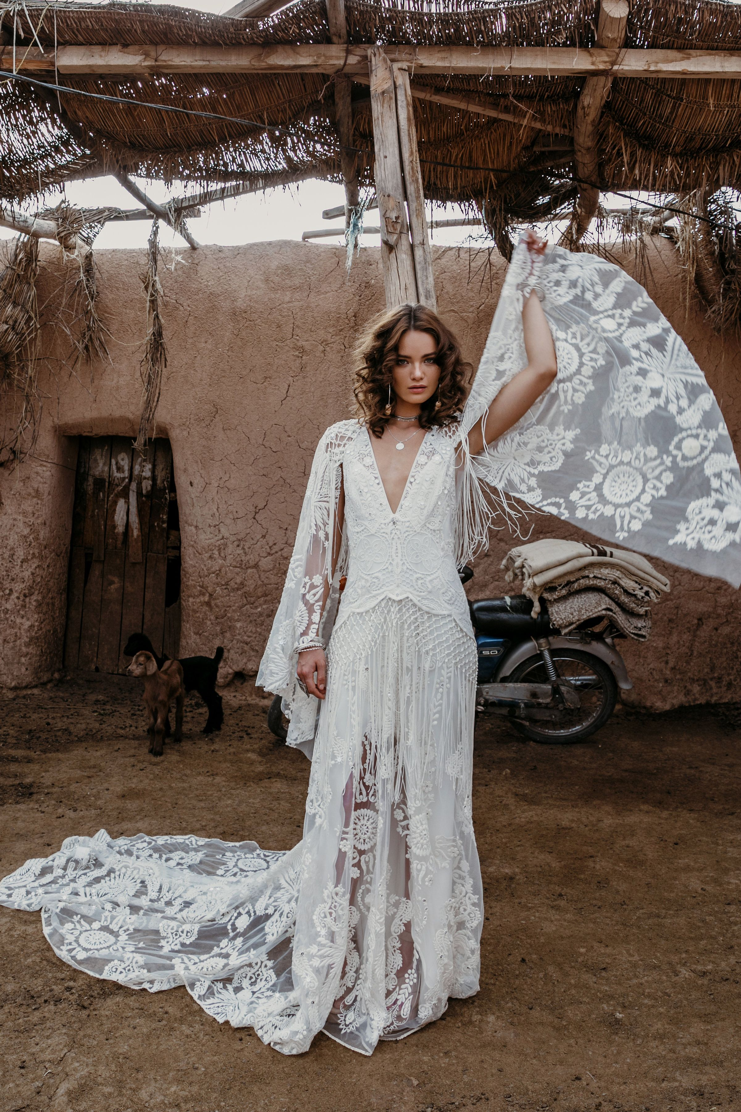 Boho hippie wedding dress  MEDINA GOWN ruedeseine ruedeseinebridal ruebridal wildheart