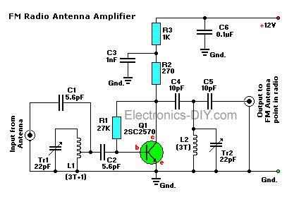 Active FM Antenna Booster | Fm antenna diy, Electronic ...
