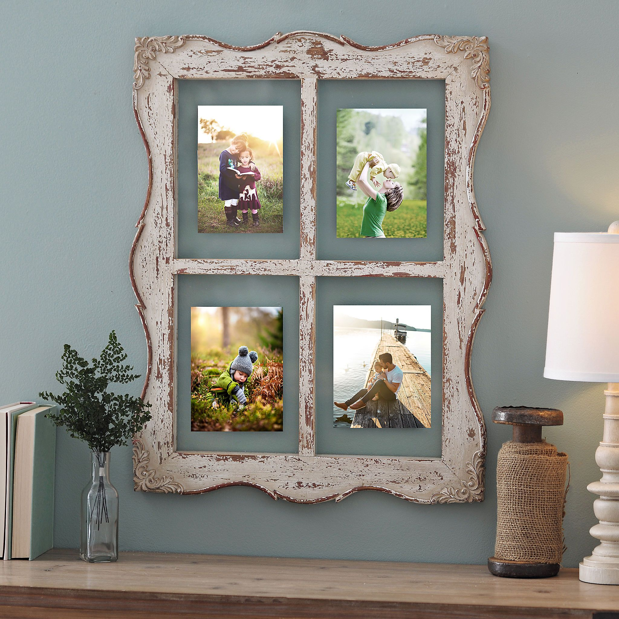 Distressed Ellie Windowpane Collage Frame For The Home Collage