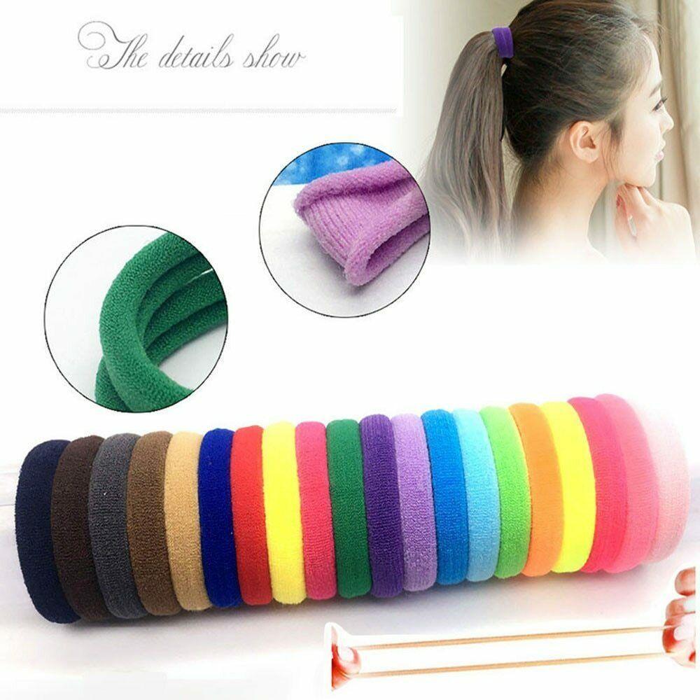 10Pcs Girls Elastic Hair Ties Bands Ropes Rings Ponytail Holder Hair Accessories