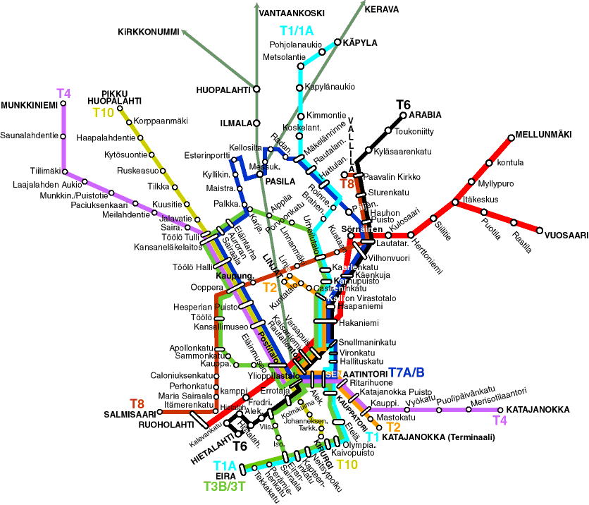 Helsinki Subway Map Subway Map Transit Map Helsinki