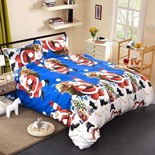 Longji 2018 New Christmas Bedding 3D Printed Bedding Set Bed Linen
