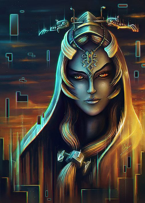 Midna Portrait by DarthiaWolf.deviantart.com on @deviantART