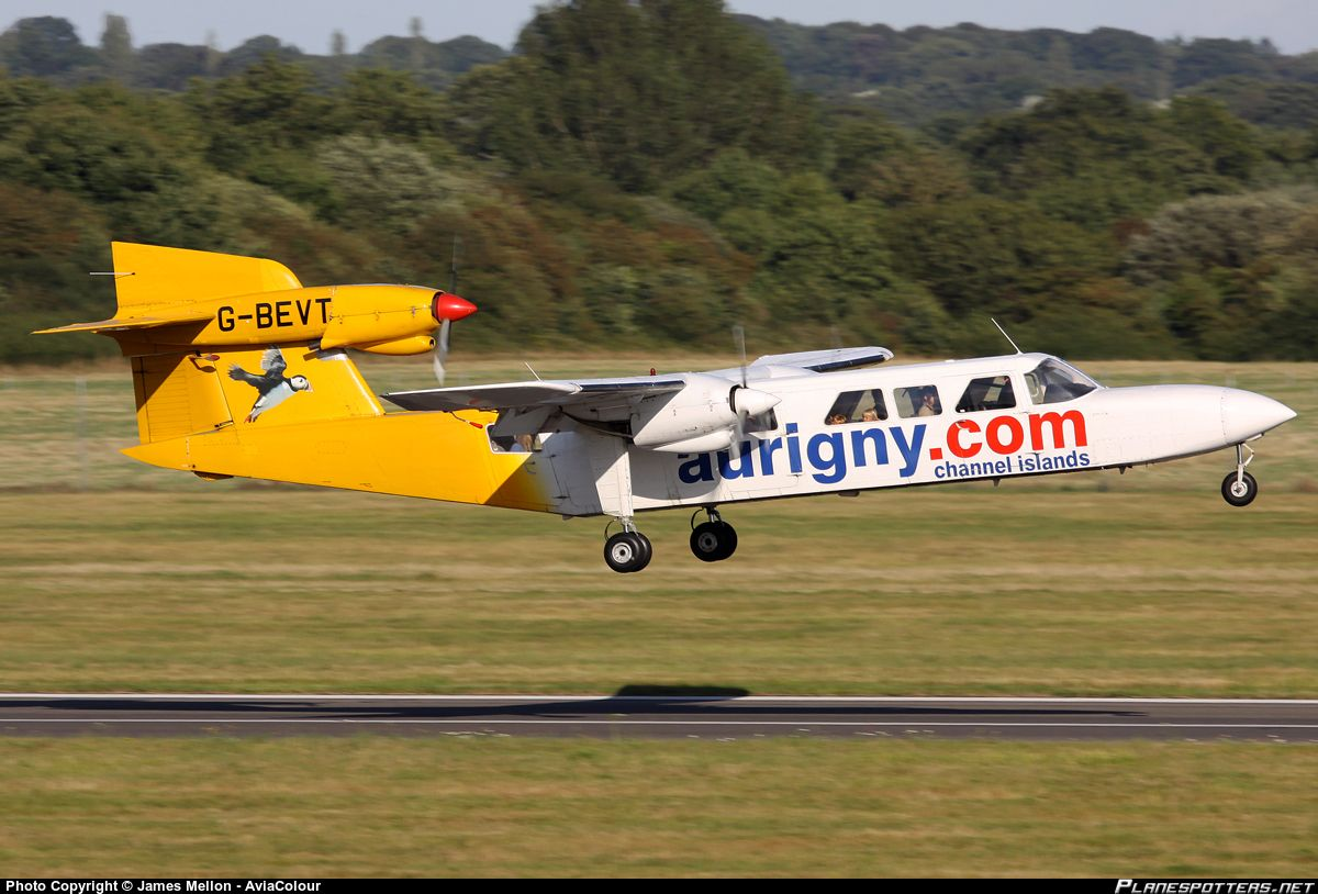 Britten norman as the company s official paint scheme design company - G Bevt Aurigny Air Services Britten Norman Bn 2a Mk3 2 Trislander