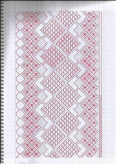 Resultado de imagen de hardanger patrones gratis | Todo bolillos ...