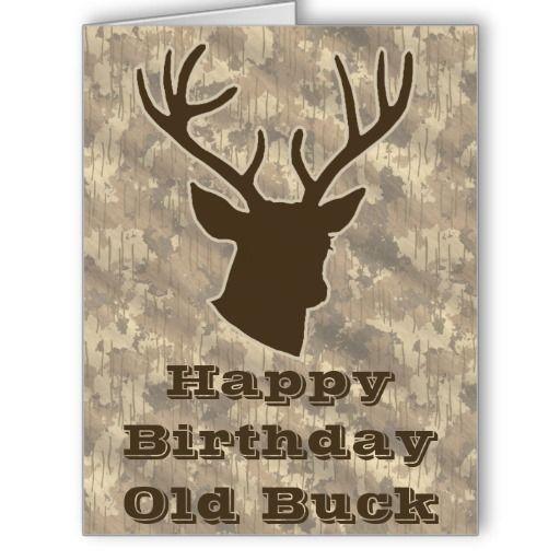 Hunting funny old buck antler camo birthday party card your hunting funny old buck antler camo birthday party card your friends will love this funny animal bookmarktalkfo Image collections