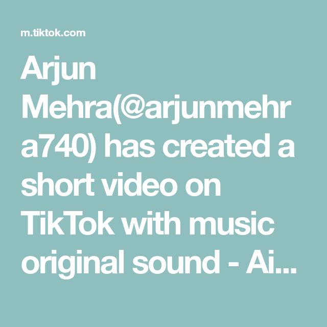 Arjun Mehra Arjunmehra740 Has Created A Short Video On Tiktok With Music Original Sound Aish Duet With Nabindas54 Edit The Originals Music Maria Kang