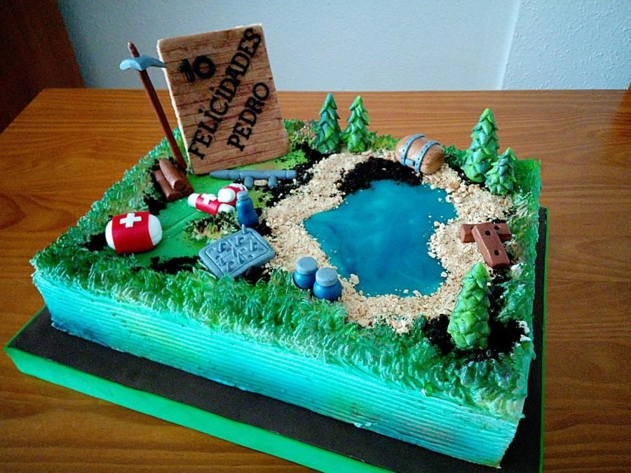 Tarta Fortnite Cake By Camelia With Images Birthday Sheet