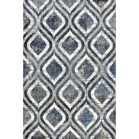 Carpet Art Deco Milos 5x7 Blue Beige Area Rug Common Blue Beige