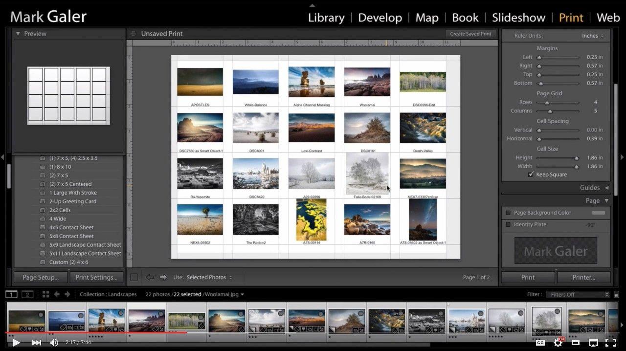 Create a PDF Contact Sheet in Lightroom's Print Module