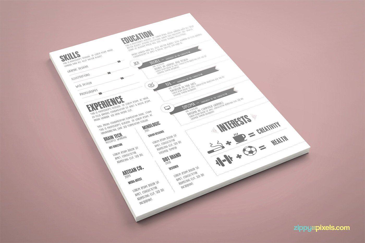 Graphic Designer Resume/CV Template