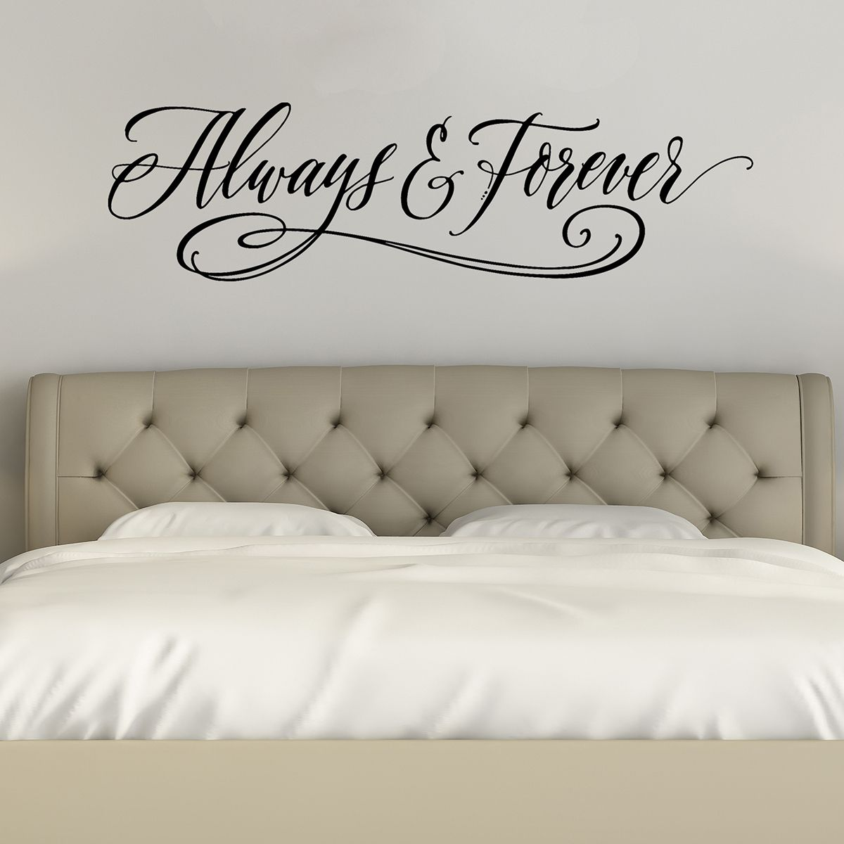 Best Always And Forever Love Wall Decals Bedroom Wall Art 400 x 300