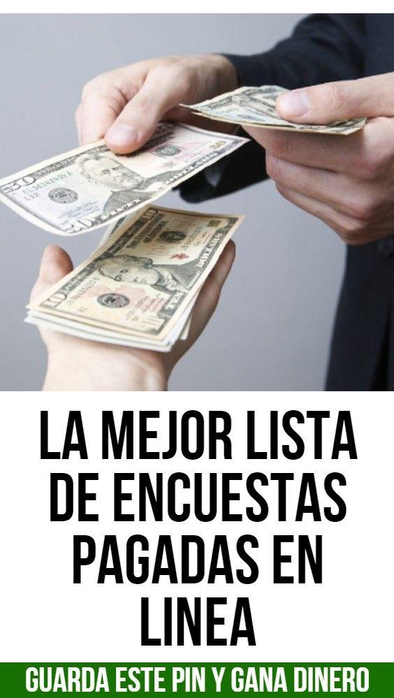 La Mejor Lista De Encuestas Pagadas En Linea Digital Marketing Money Marketing