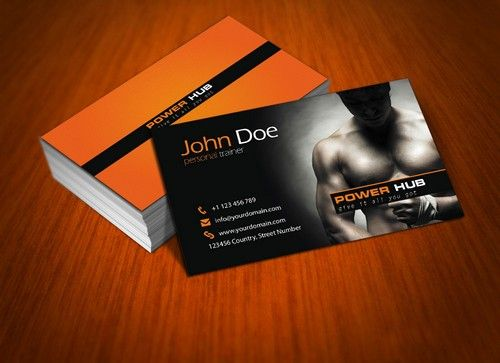 Surprising Personal Trainer Business Cards Templates 78 In