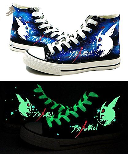 Akame ga KILL! Anime Night Raid Logo Cosplay Shoes Canvas Shoes Sneakers Luminous