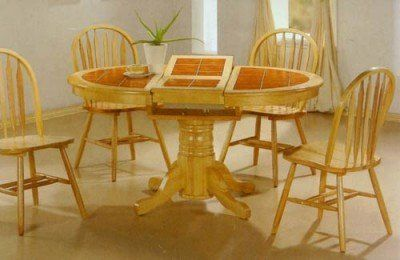 Coaster Mosca Round Dining Set With Butterfly Leaf By Coaster Home Furnishings 642 00 The 5 Piece M Round Dining Room Natural Dining Room Oval Kitchen Table