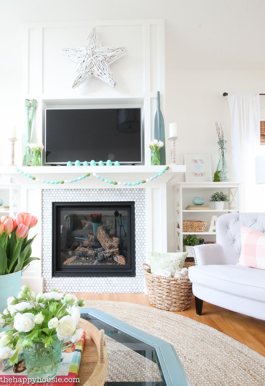Seasonal Simplicity Spring Home Tour | Spring, Living rooms and Room