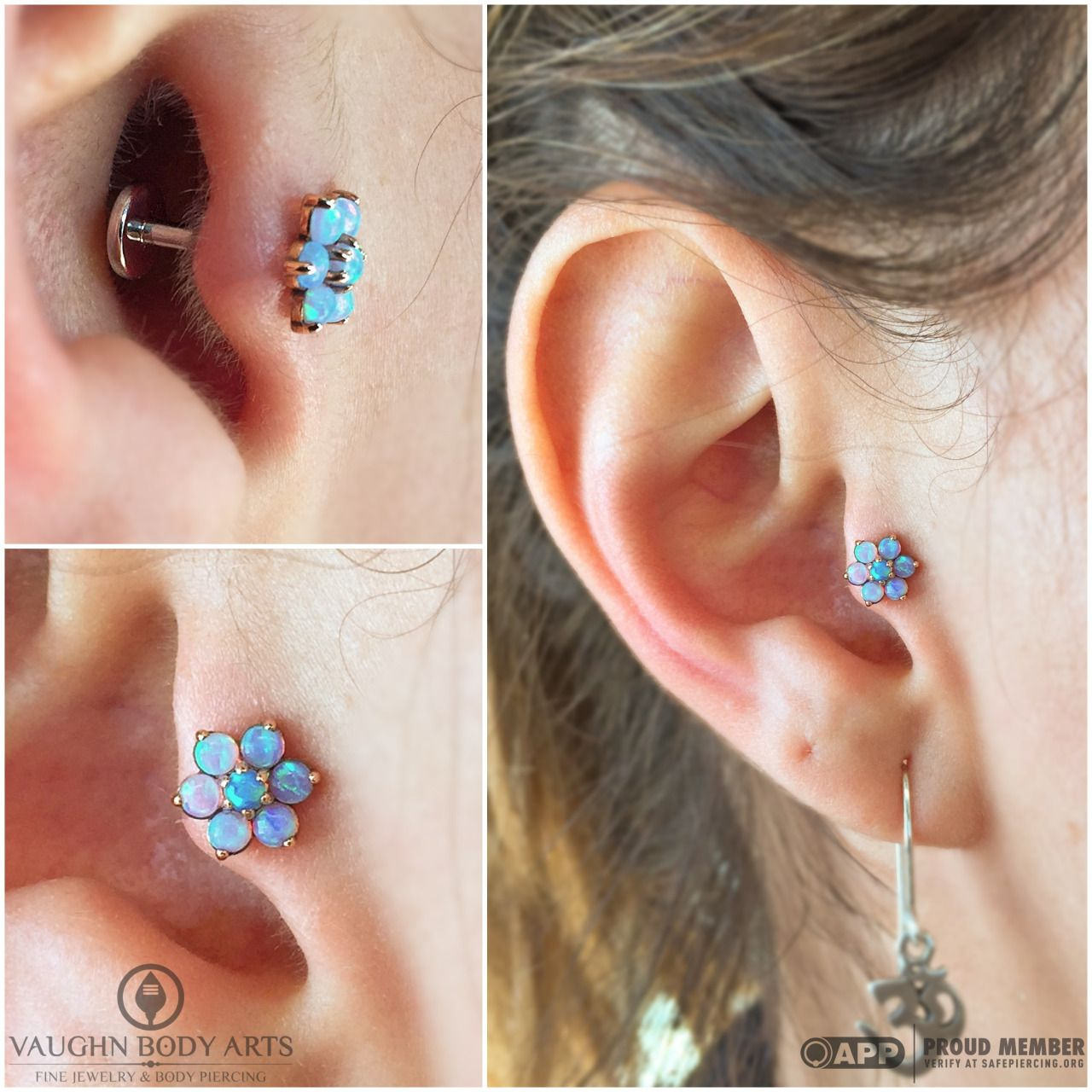Maria Stopped By Today For A Tragus Piercing It Only Took Her A Second To