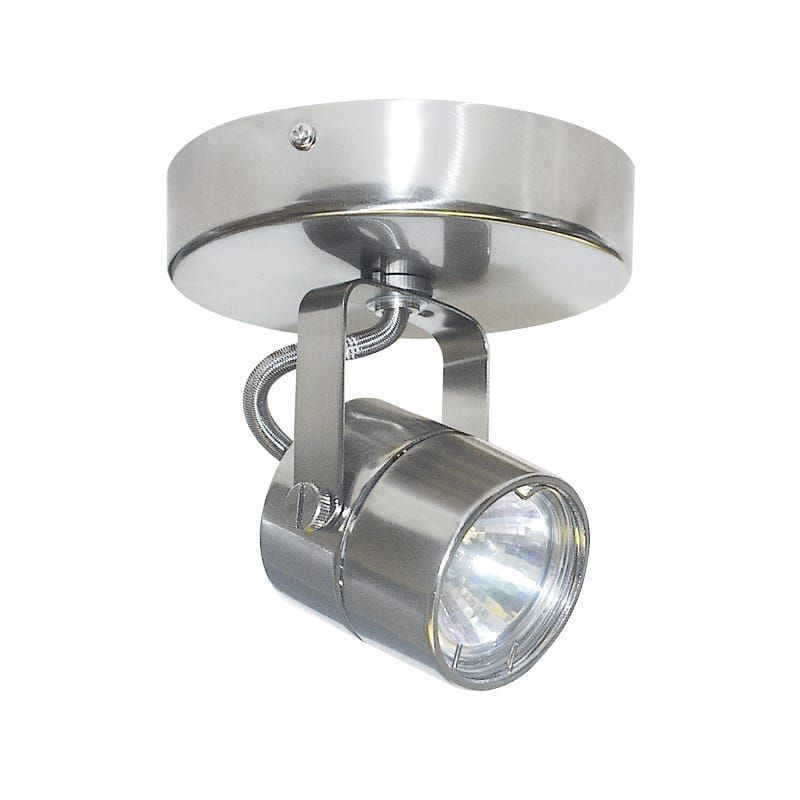 Elco Et1528 35w Low Voltage Monopoint Cylinder Fixture Nickel Track Lighting Heads Heads Products Track Lighting Lighting Tracking System