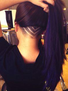 Femmes · Undercut Long Hair on Pinterest