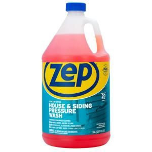 Zep 1 Gal House And Siding Pressure Wash Concentrate Cleaner Zuvws128 The Home Depot In 2020 Pressure Washing Cleaning Vinyl Siding Mildew Stains