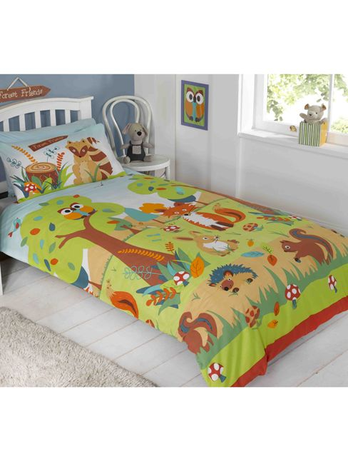 Forest Friends Single Duvet Cover And Pillowcase Set