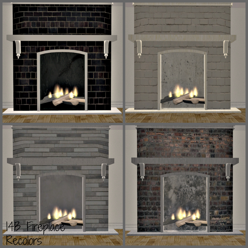 Sims 2 - I4B Summer Cottage Fireplace Recolors - Downloads - BPS ...