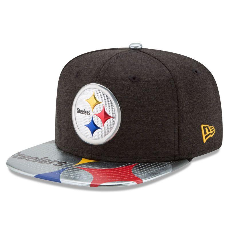 9d624a0c804f4f Pittsburgh Steelers New Era 2017 NFL Draft On Stage Original Fit 9FIFTY  Snapback Adjustable Hat - Black