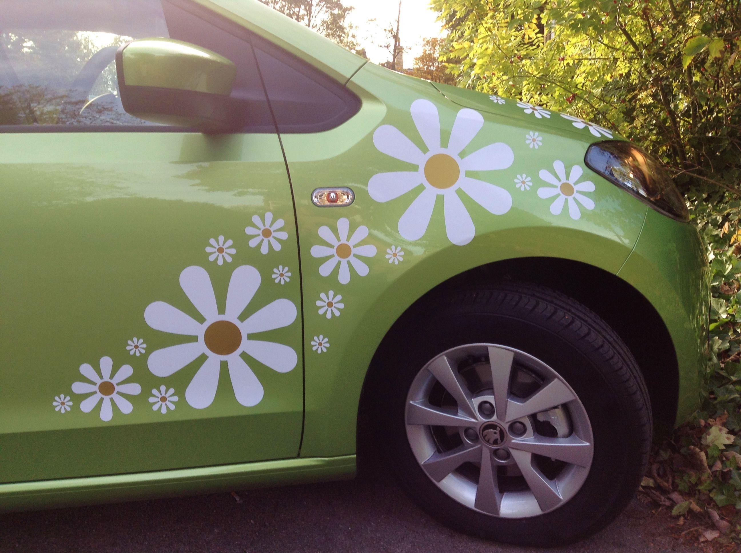 Daisy decals girly car decals hippie car car decal hippie