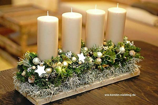 Photo of 24 Amazing Christmas Candle Centerpieces