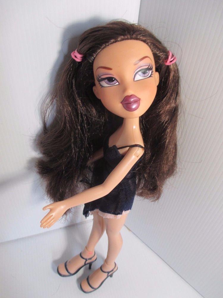 Bratz Doll Long Dark Brown Hair Black Dress High Heels Bratz Light Blonde Hair Light Blonde Pink Hair