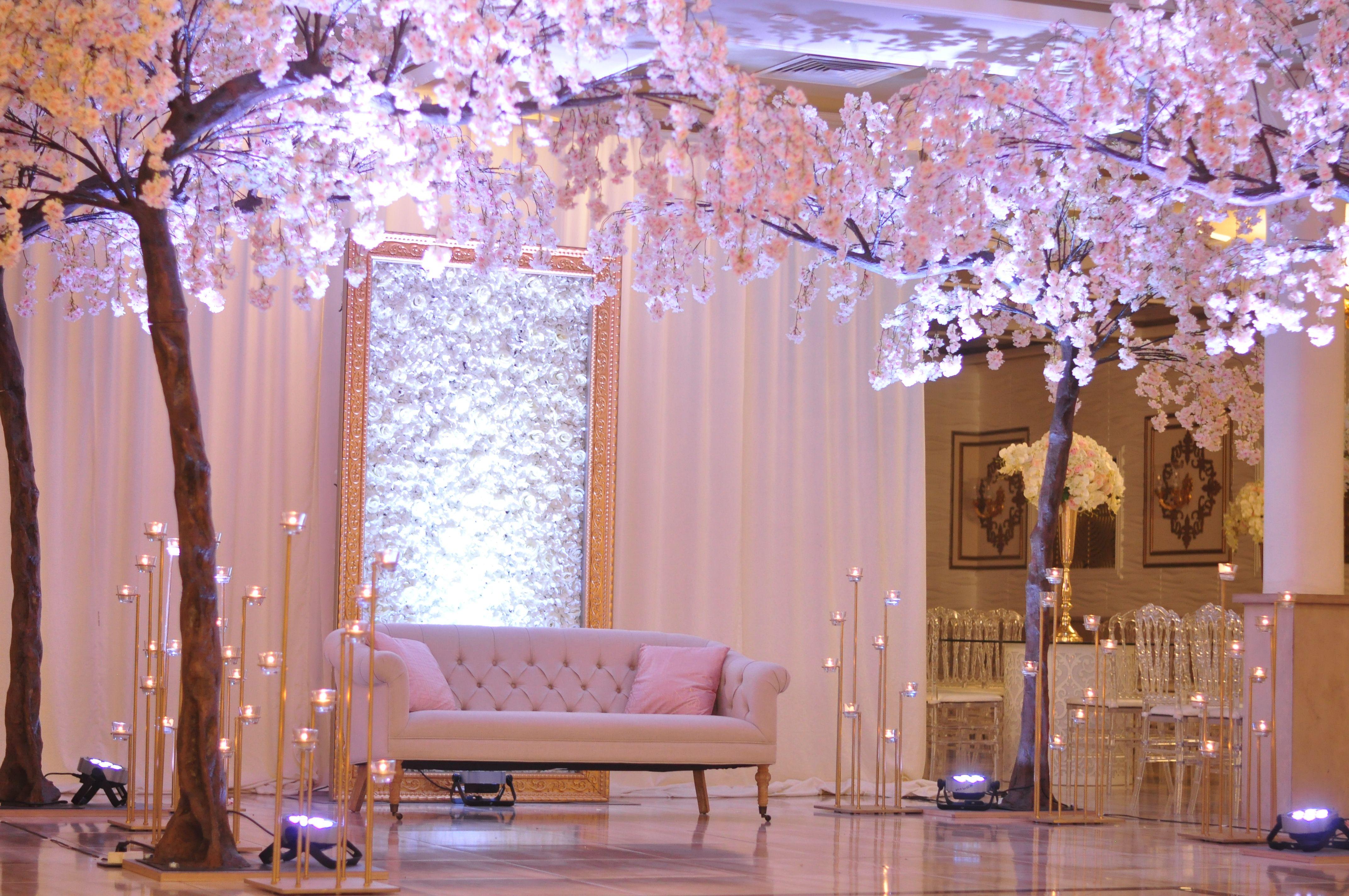 Japanese Garden Sakura Wedding Stage By Weddingking Sakura Wedding Cherry Blossom Wedding Decor Cherry Blossom Wedding Theme