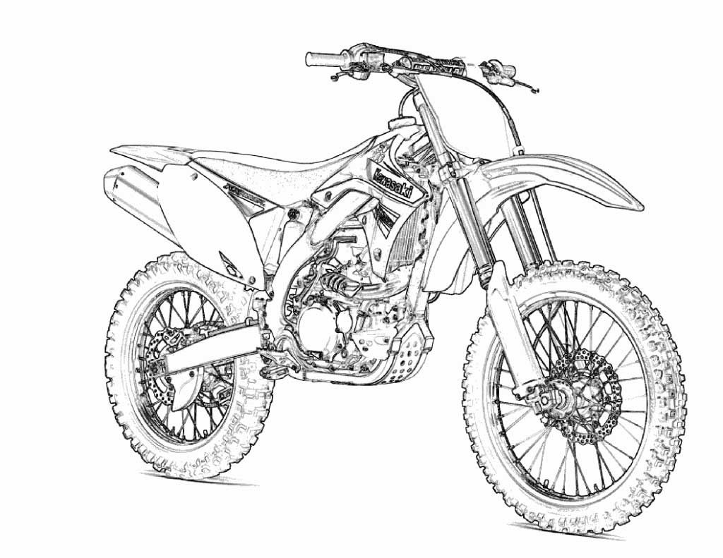 Printable Motorcycle Coloring Pages For Preschoolers Bike