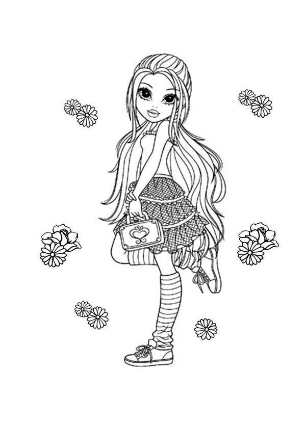 Moxie Girlz Flower And Lexa In Moxie Girlz Coloring Pages