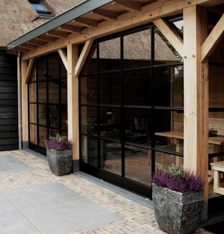 Inspiratie stalen deuren voor het afsluiten van de veranda meubelen en inrichting - Prieel frame van ...