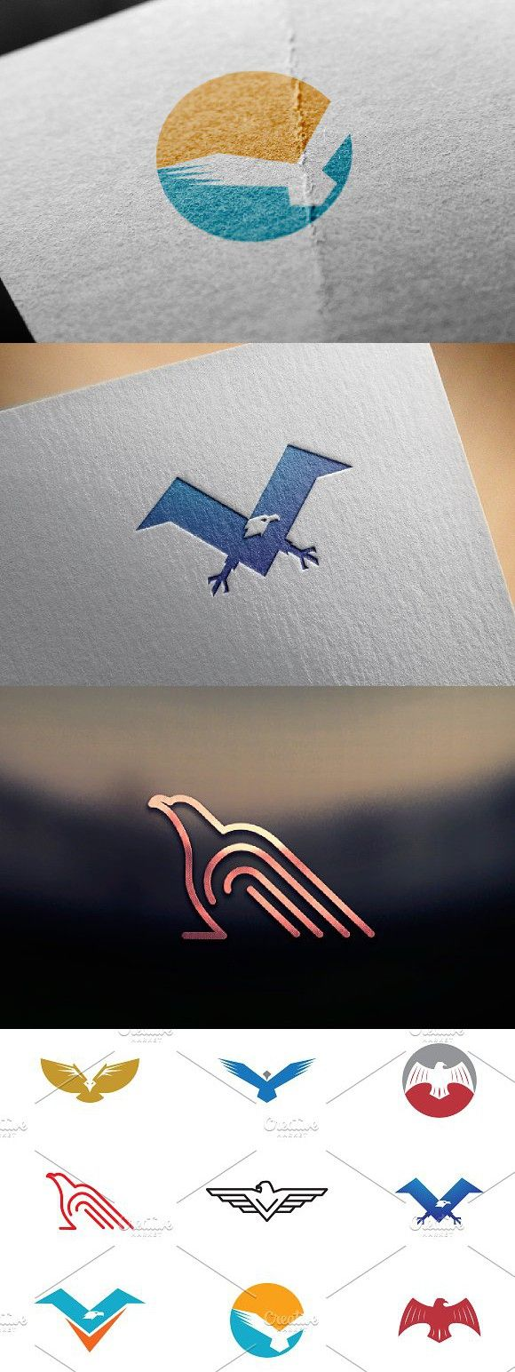 9 Bird and Eagle Logo Symbol Eagle logo, Word mark logo