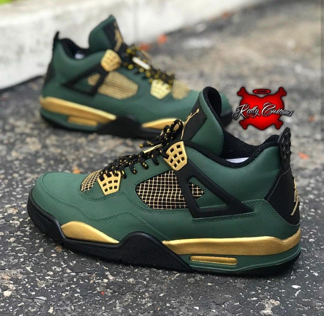 Custom painted nike jordan 4's | Sneakers nike, Air jordans ...