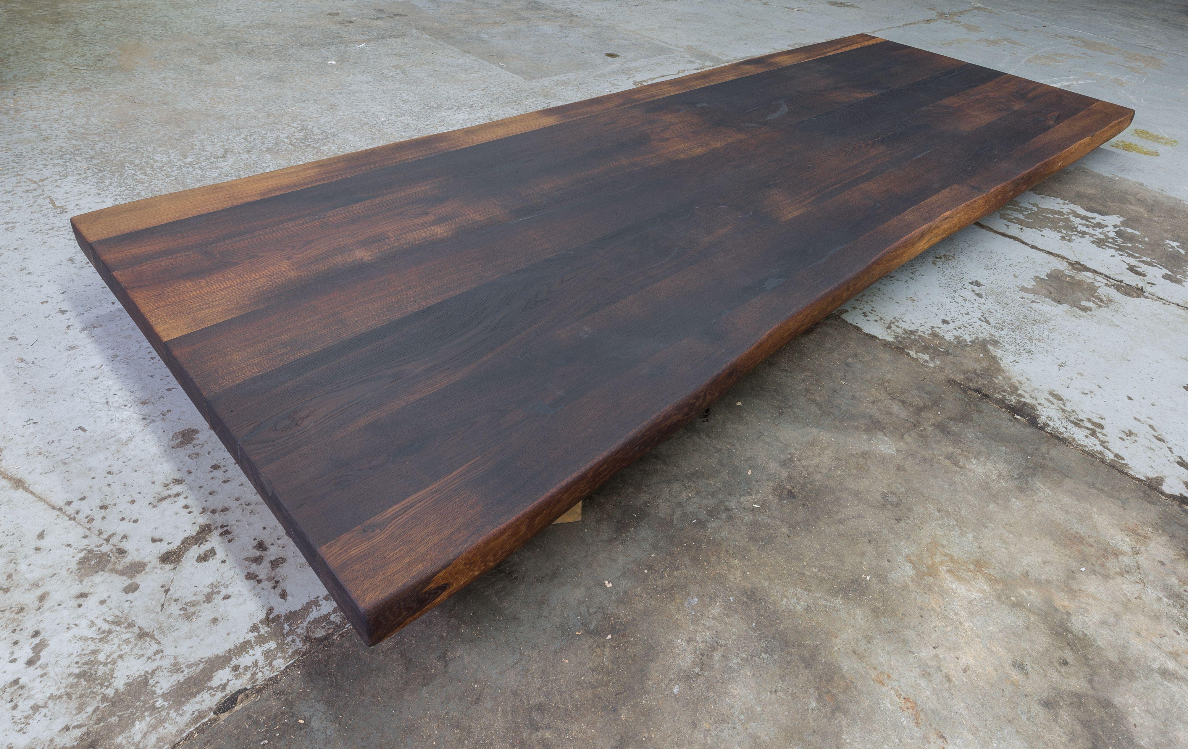 Tischplatte Esstisch Mooreiche Altholz Eiche Massiv Geolt Mit Baumkante 260x100x6 Cm Unikat Eiche Massiv Altholz Eiche Eiche