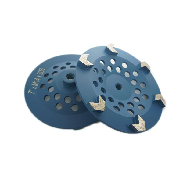 7 Ceramic Grinding Wheels for Concrete Polishing 200 Grit 5//8-11 Arbor