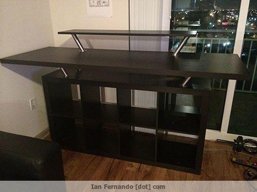 Ikea küchentüren ~ Standing ikea desk hack home interior desk hacks