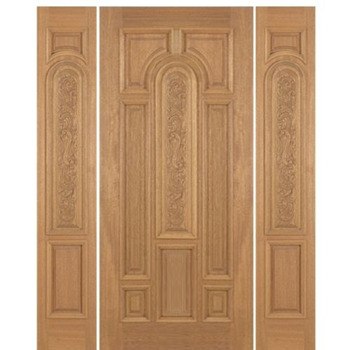 M509cp 1 2 Single Doors Mahogany Entry Doors Paneling