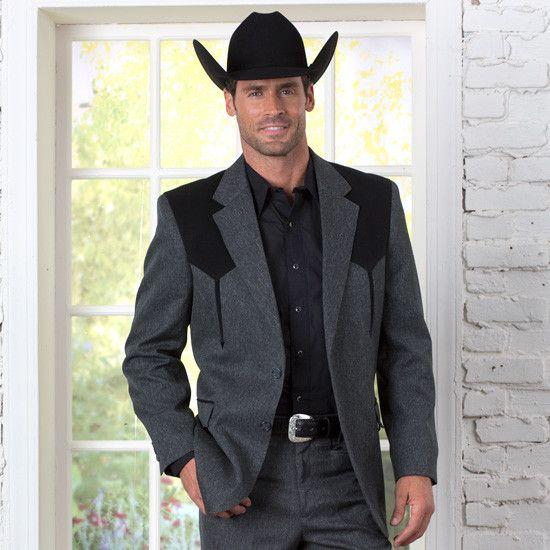 Men S Grey Boise Sportcoat Mens Western Wear Wedding Men Cowboy Suit