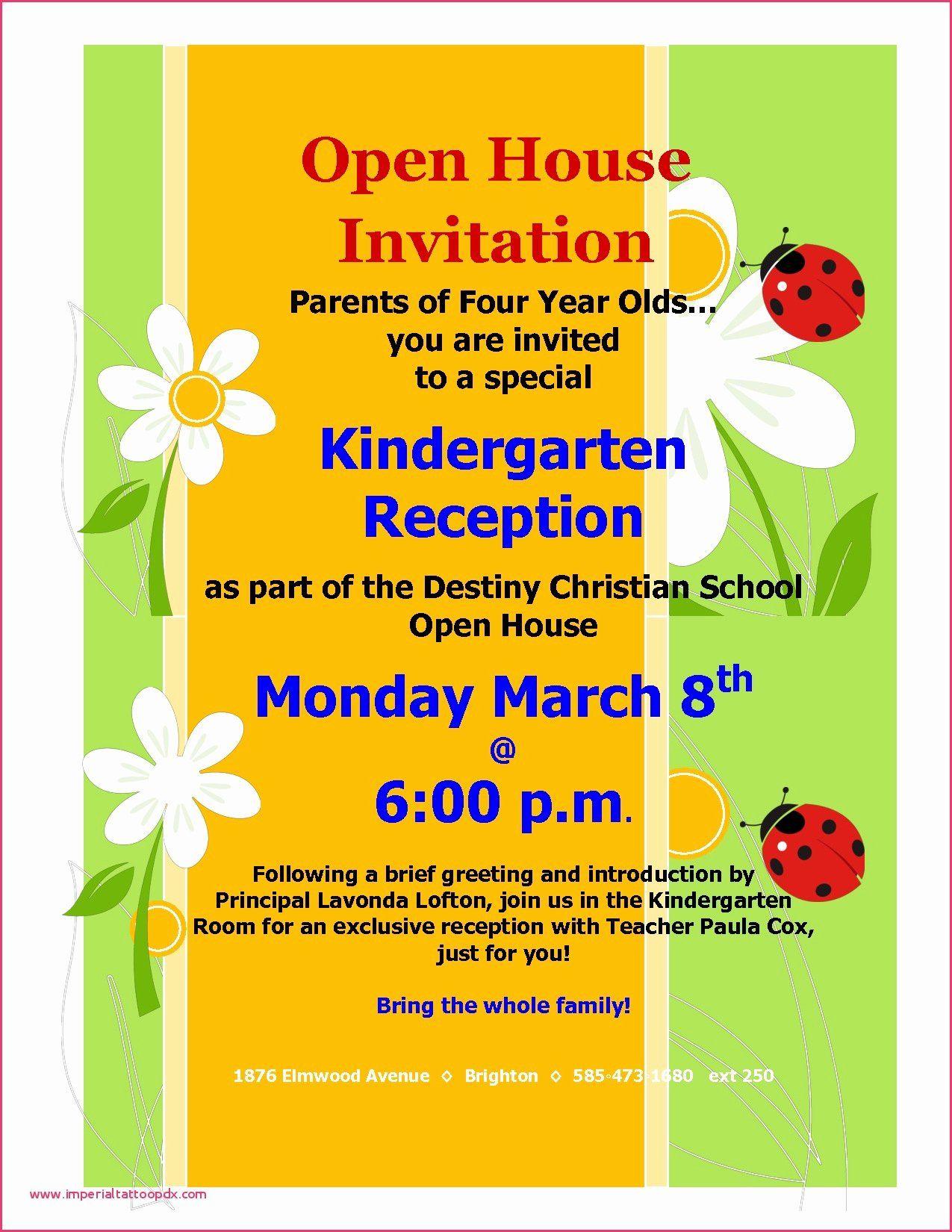 School Open House Invitations Templates Inspirational Invitation Letter Format For Housewa Open House Invitation School Open House Open House Party Invitations