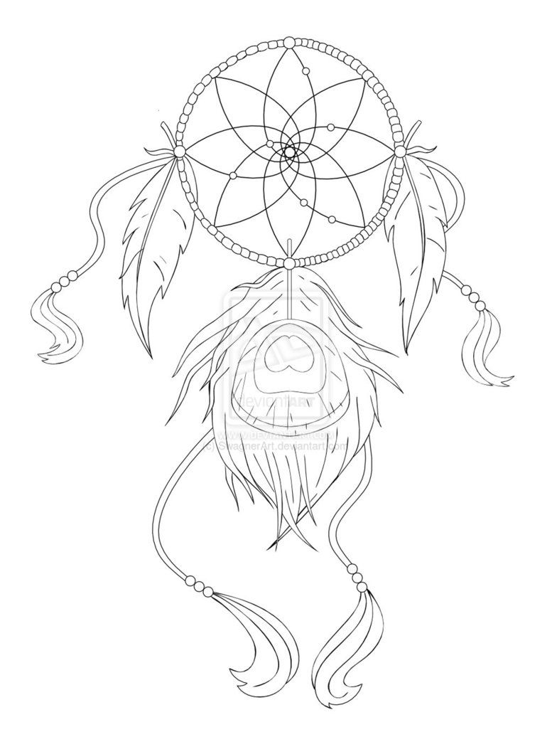 Simple Dreamcatcher Tattoo Designs Images & Pictures