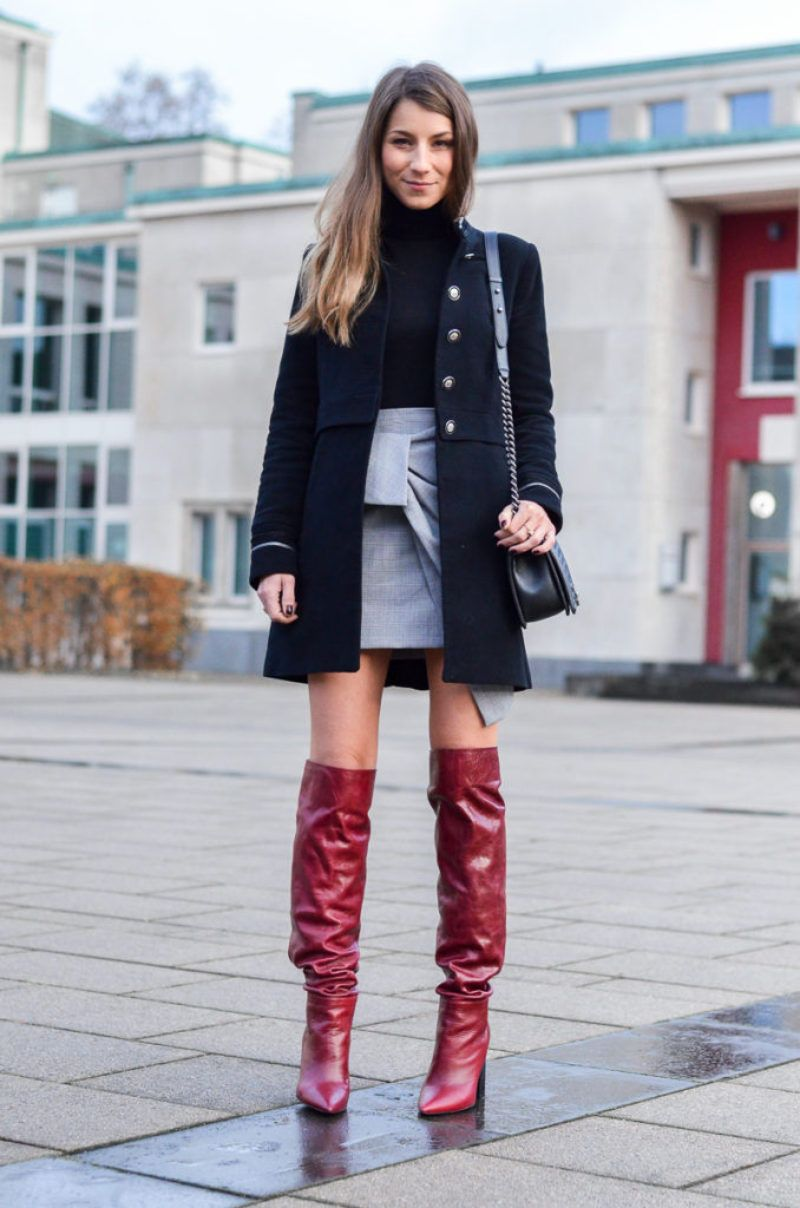 56eabdfffe3 outfit-jacke-military-stil-rock-zara-boots-blog-10-von-27 Red leather OTK  loose slouch boots