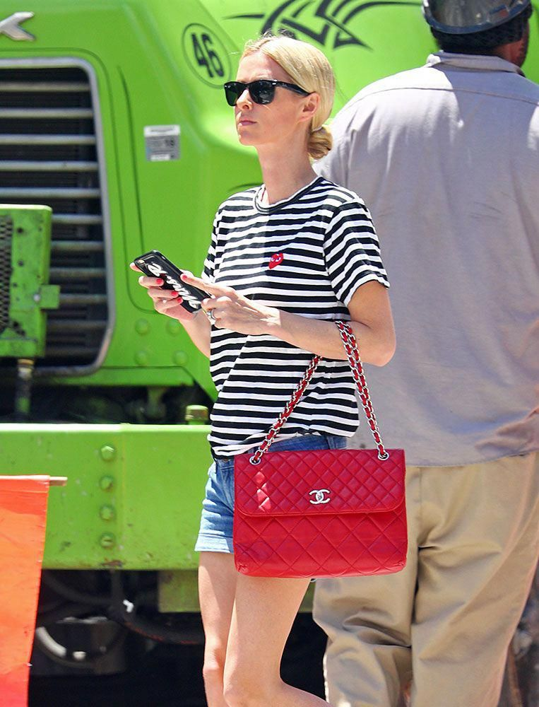 1585f56ad6f Just Can t Get Enough  Nicky Hilton Loves Her Red Handbags - PurseBlog