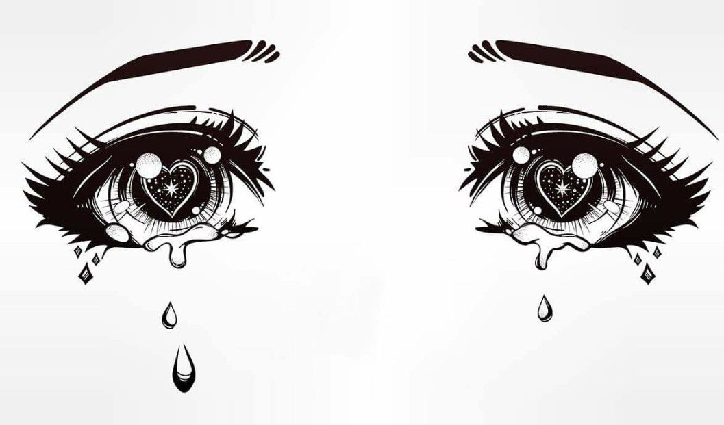 Pin By Clarɪssa Guŋdy On Art With Images Crying Eye Drawing