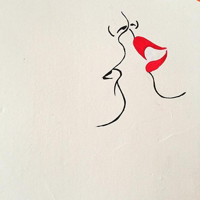 Romance Or Something Art Artist Paint Love Red White Black
